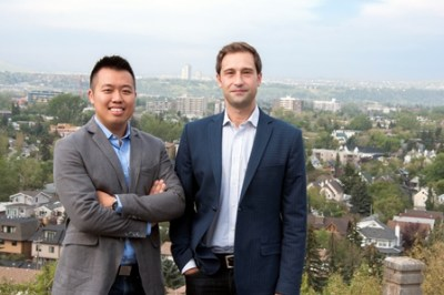 Fabrizio Chiacchia and Iwain Lam (left) and Fabrizio Chiacchia (right) invented the CleanPatch, an adhesive film designed as a preventative, early-stage maintenance tool for torn mattresses and stretchers.