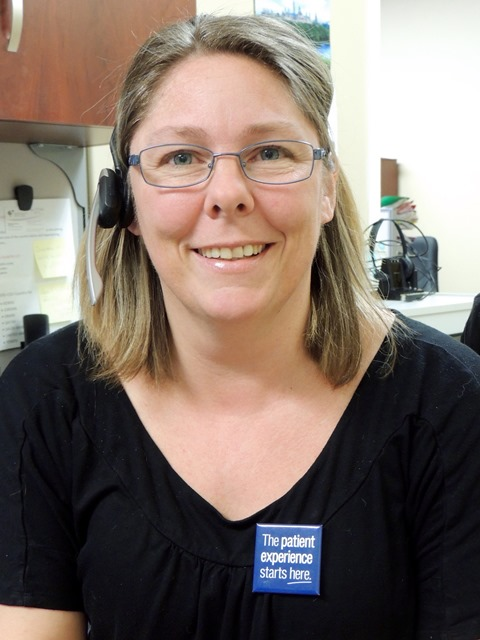 Kelli Cumming works in Kemptville District Hospital's Health Records department.