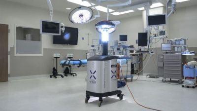 The Xenex Robot.