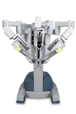 The daVinci Robot. Photo courtesy of Intuitive Surgical Inc.