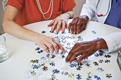 Activities and games for patients with Alzheimer's disease