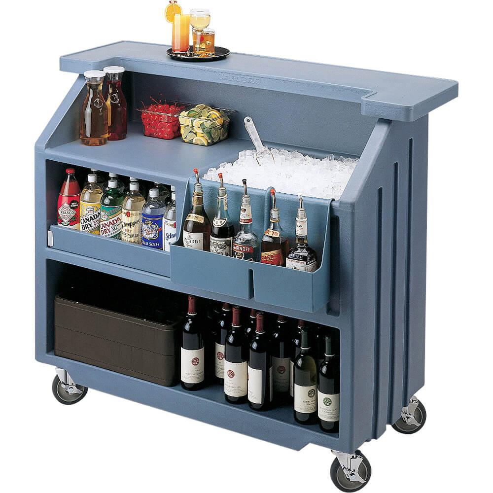 Cambro Black, Small Portable Bar, Indoor / Outdoor Bar ... on Portable Backyard Bar id=72323