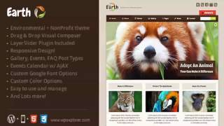 Earth – Eco/Environmental NonProfit WordPress Theme | Website Templates and Themes