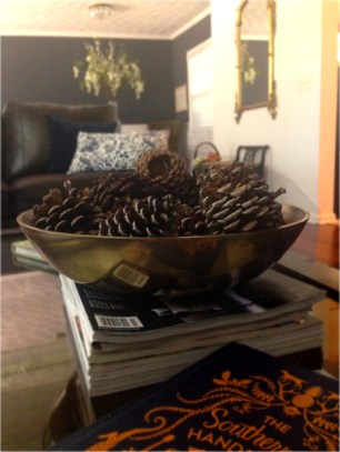 Pinecones are a great filler for Fall and Winter.