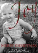 Joy Plaid Christmas Card