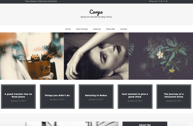 Corpo Custom WordPress Theme
