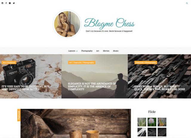 Blogme Custom WordPress Theme
