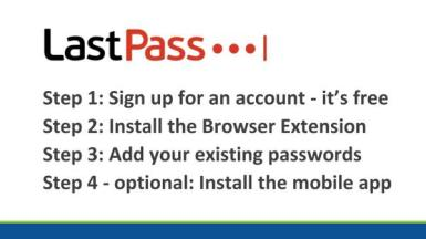 LastPass steps to get started