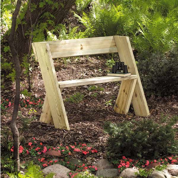 simple outdoor bench diy