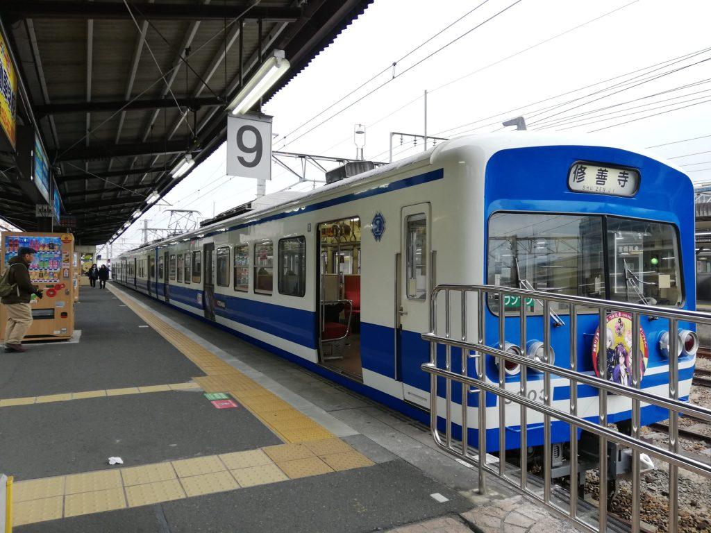 伊豆箱根鉄道の三島駅発修善寺駅行き