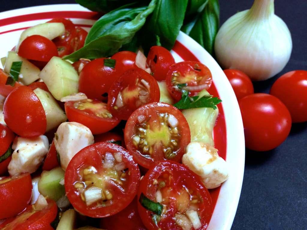 Italian Tomato Mozzarella Salad - HostessAtHeart