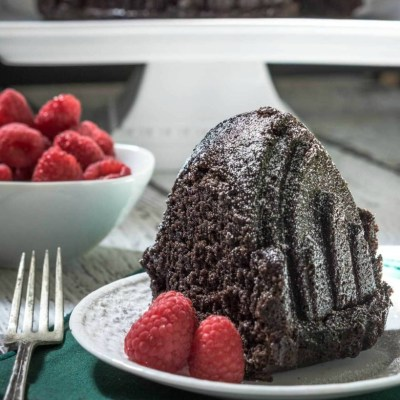 Raspberry Chocolate Pound Cake