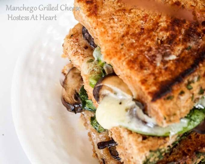 Every single layer of this grown up grilled cheese makes it one fabulous sandwich. Manchego Grilled Cheese will soon be your favorite grilled cheese. | Hostess At Heart