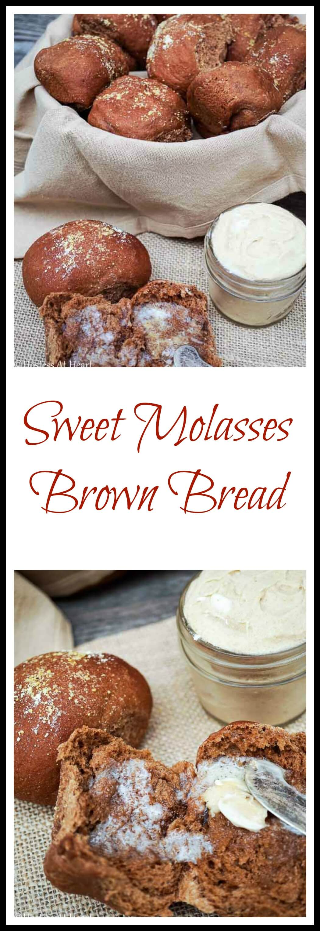 Sweet Molasses Brown Bread Rolls are soft and delicious. Molasses, honey and whole wheat flour give these rolls a mild sweetness and great flavor. #homemadebread #breadrecipe #baking | Homemade Bread | Bread Baking