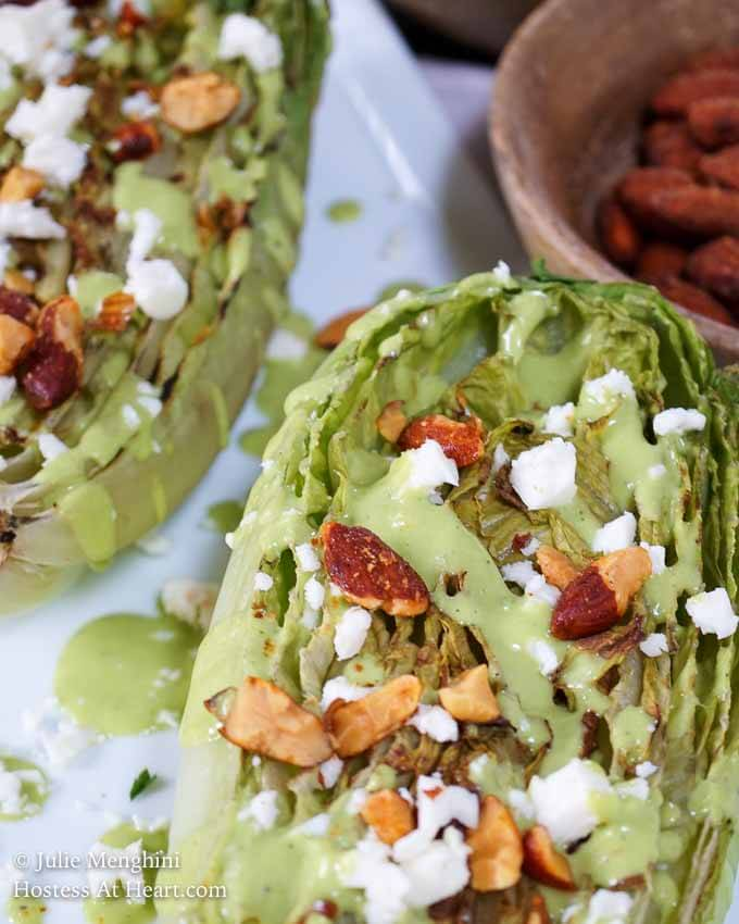 Southwester Grilled Romaine Salad - Hostess At Heart