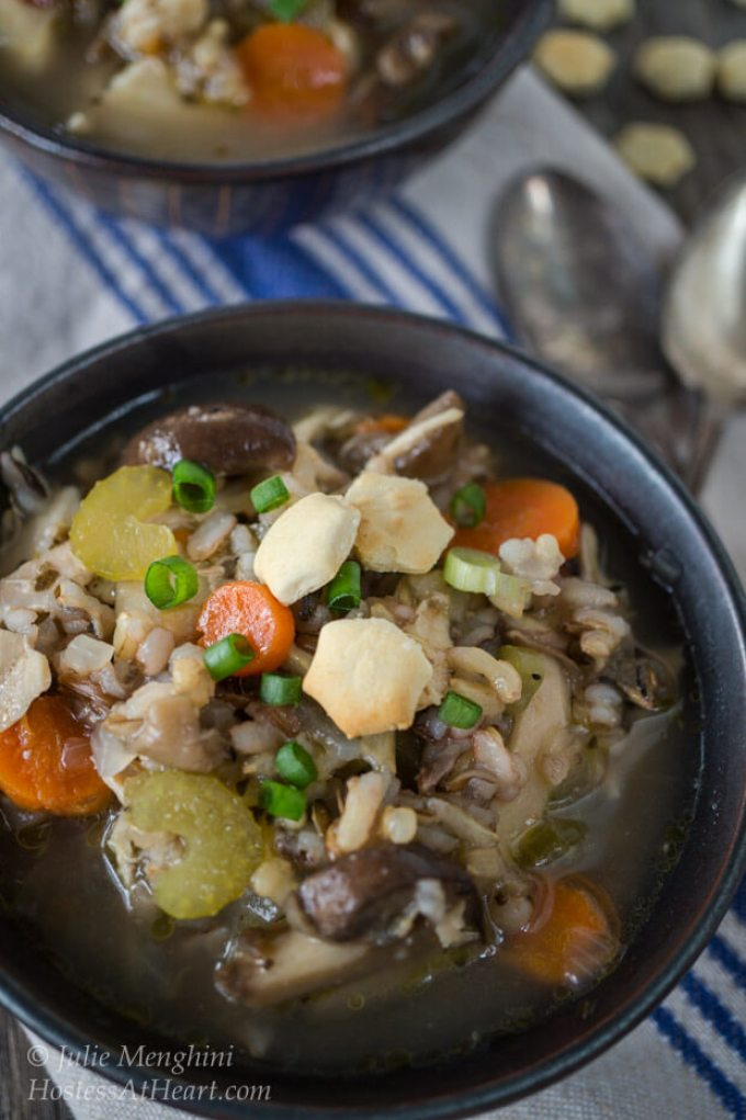 Bowl of Chicken Wild Rice Soup