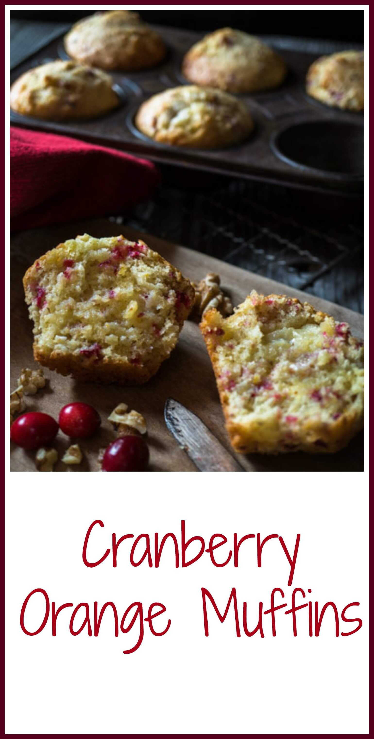 Soft and buttery Cranberry Orange muffins that are quick and easy. This muffin is perfect for breakfast, brunch, or anytime! #recipe #muffins #Homemade #bakery #holidayfood #yum