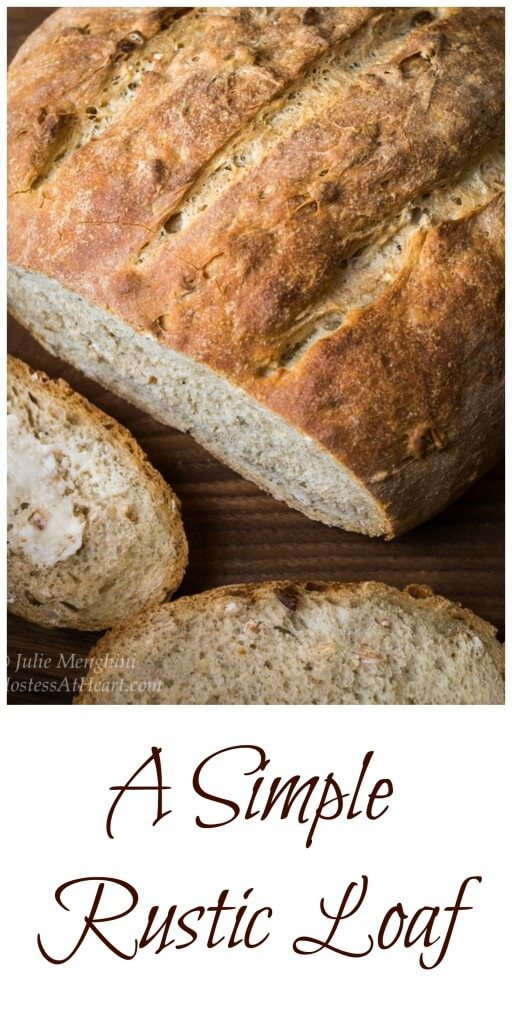 Simple Rustic Loaf is a beautiful loaf of bread that is easy to make and will leave you amazed that it came from your kitchen and not the bakery