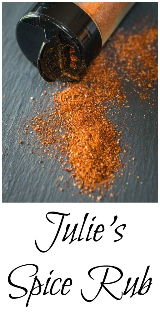 Julie's Spice Rub recipe is the perfect balance of slightly sweet with a bit of heat. It has a deep flavor but not so overbearing that it takes over the taste of your food | HostessAtHeart.com
