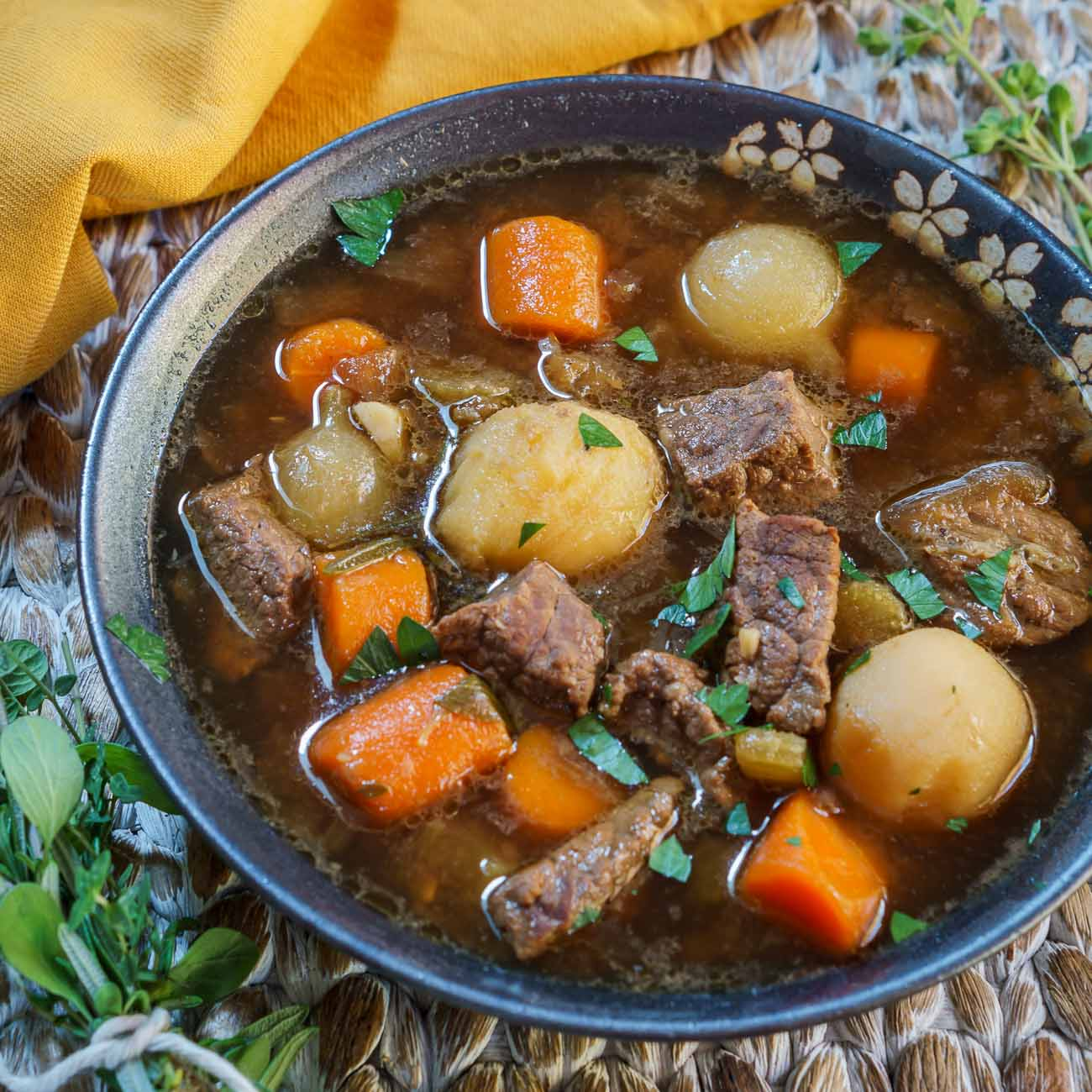 how to make beef stew soup