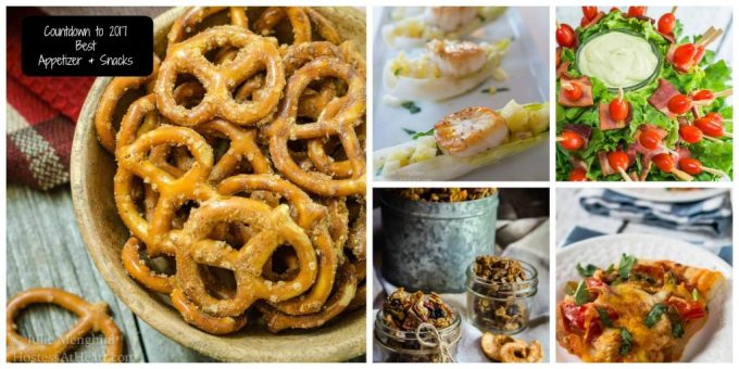 Countdown to 2017 is on! Today's recipes are for the Best Appetizers & Snacks featured on Hostess At Heart during 2016 | HostessAtHeart.com