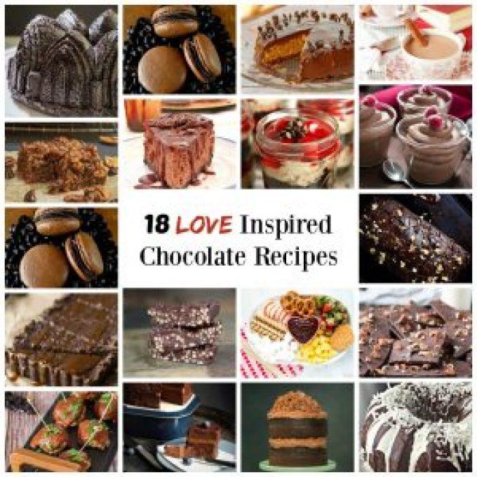 18 Love Inspired chocolate recipes | HostessAtHeart.com