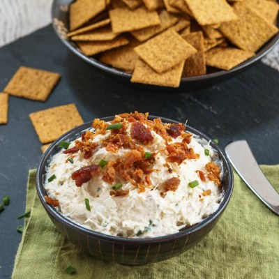 Easy Crab Dip with Bacon recipe will appeal to anyone that walks through the door. It's perfect for a fancy affair or the next pigskin party. | HostessAtHeart.com