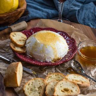 Homemade Lemon Ricotta with Honey Recipe
