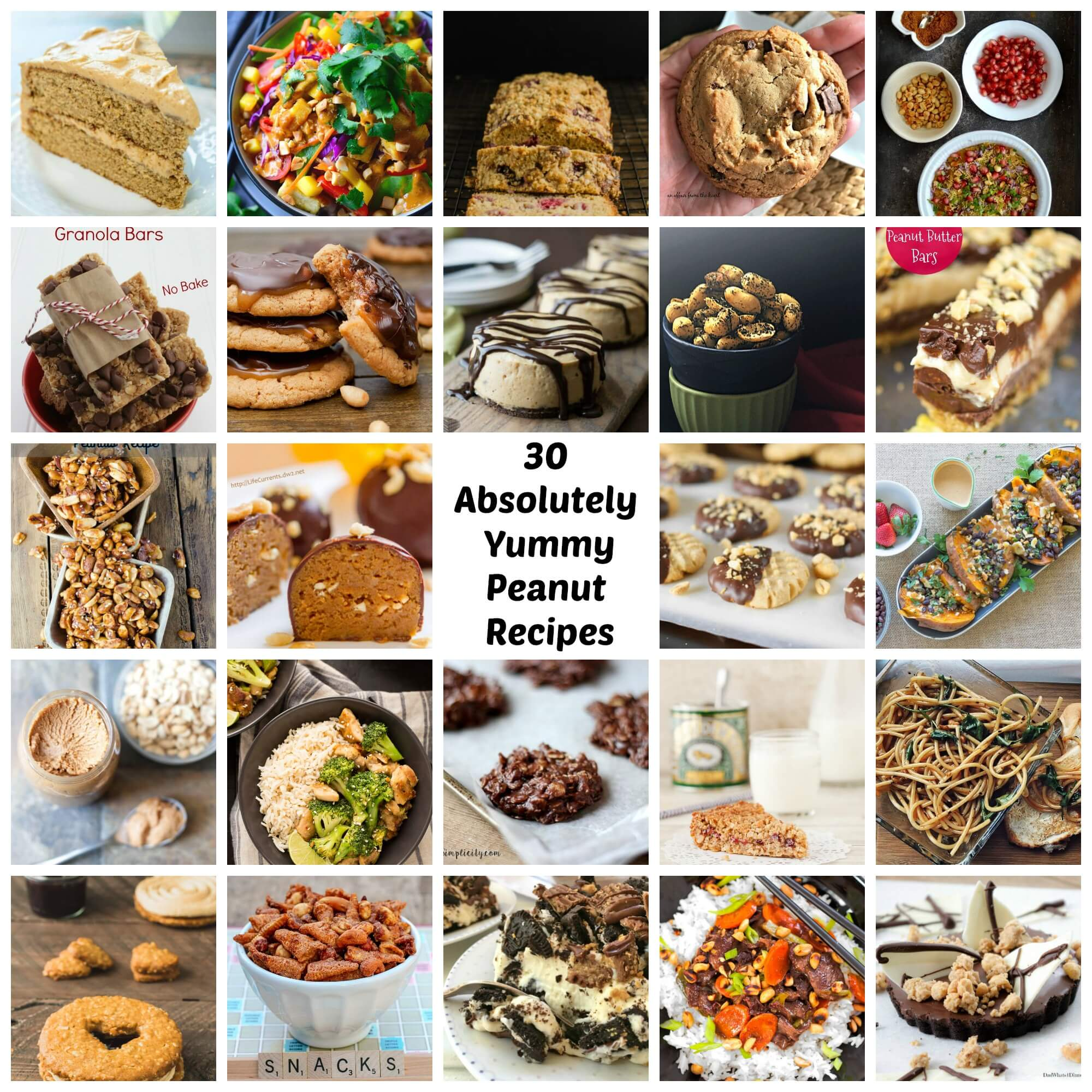 March is National Peanut Month!  Some of the most talented food bloggers have compiled an amazing 30 absolutely Yummy Peanut Recipes.