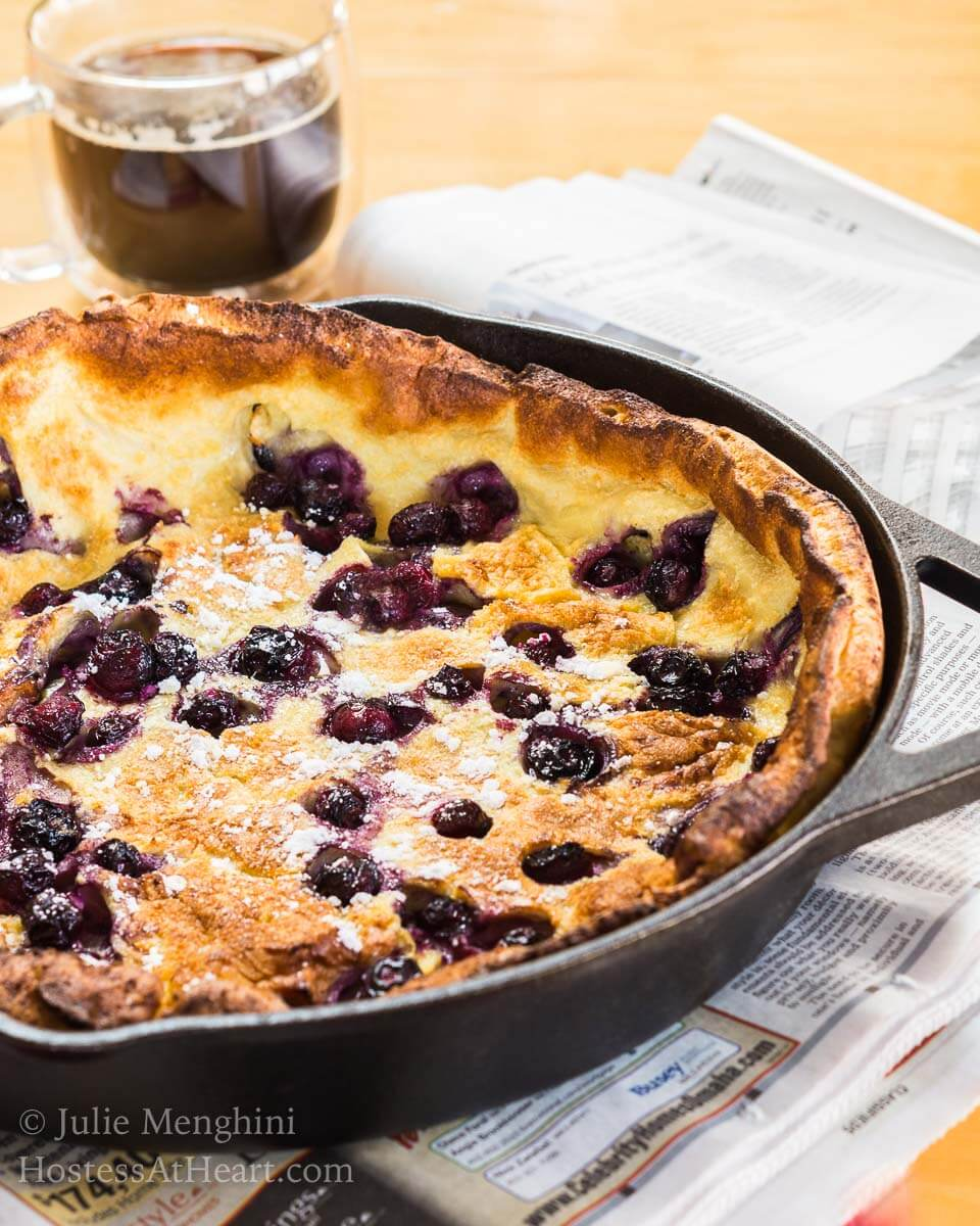 Blueberry Dutch Baby Recipe - #BreadBakers