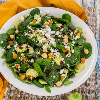 Popeye Approved Vegetarian Spinach Power Salad