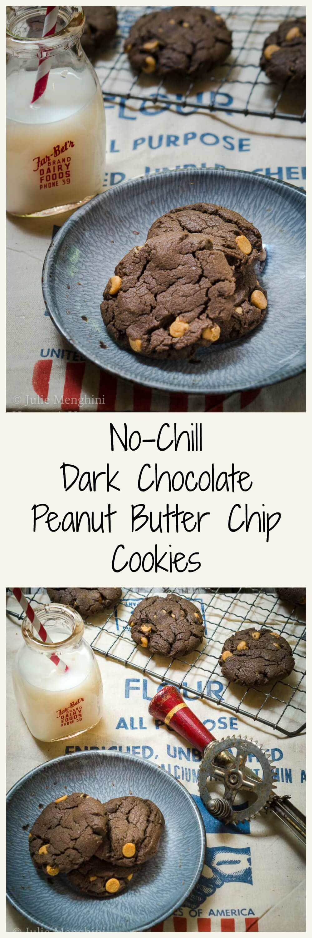No-Chill Dark Chocolate Peanut Butter Cookies are magic little discs of delicious decadence that will soon become one of your most requested cookies!