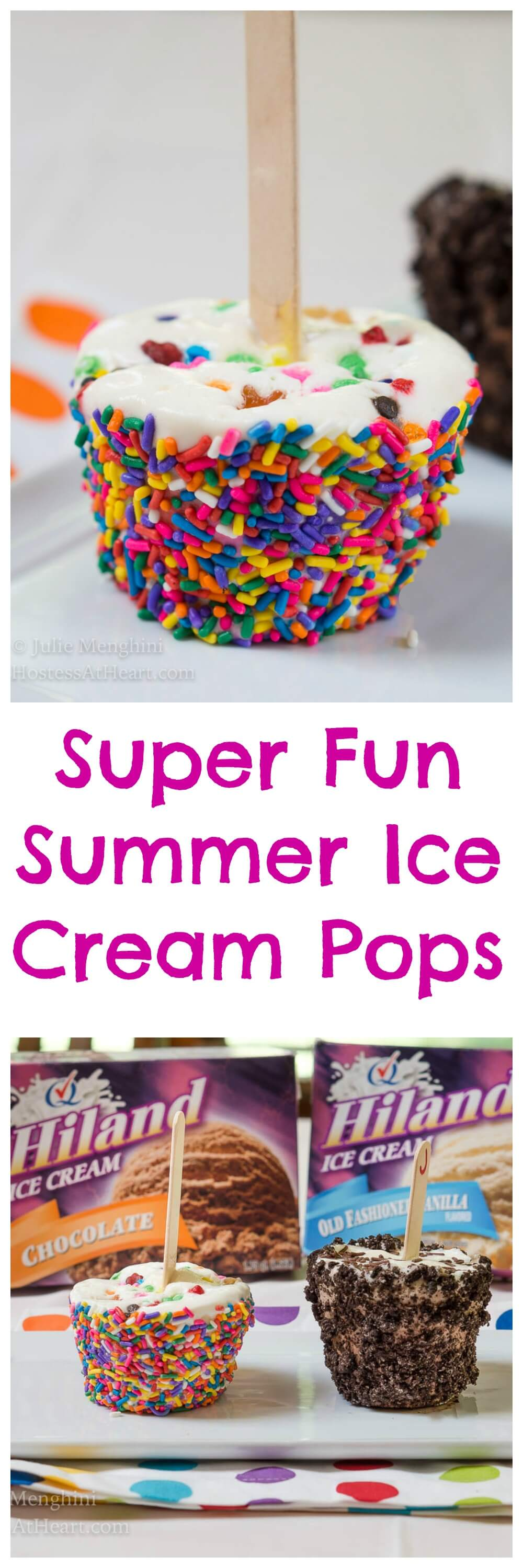 Super Fun Summer Ice Cream Pops with Hiland Dairy make a perfect and delicious summer activity for the whole family. | HostessAtHeart.com #ad