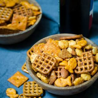 Spicy Sriracha Snack Chex Mix For The Big Game