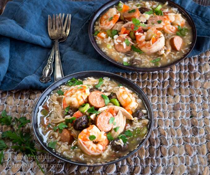 Chicken Shrimp And Sausage Gumbo Recipe Hostess At Heart