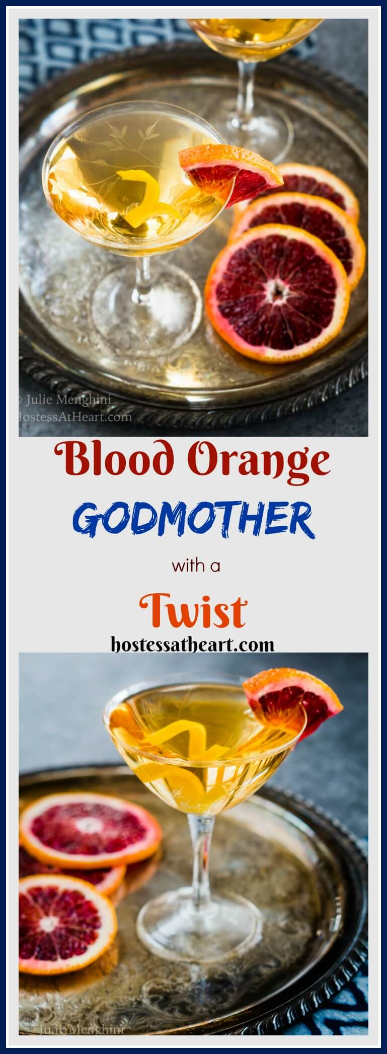 This Blood Orange Godmother cocktail adds a whole new twist to a traditional Godmother. This lady is a modern gal and is all dressed up and ready to please. #MixedDrinks #Cocktails #Vodka #drinks | Cocktails with Vodka | Vodka Mixed Drinks | Cocktail Recipes