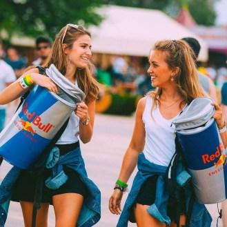 Red Bull promogirls festivals