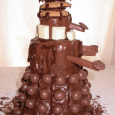 Since there does not appear to be any ready made Dalek cakes in the store, we will have to construct one ourselves. Feel free to substitute anything you like, basically […]