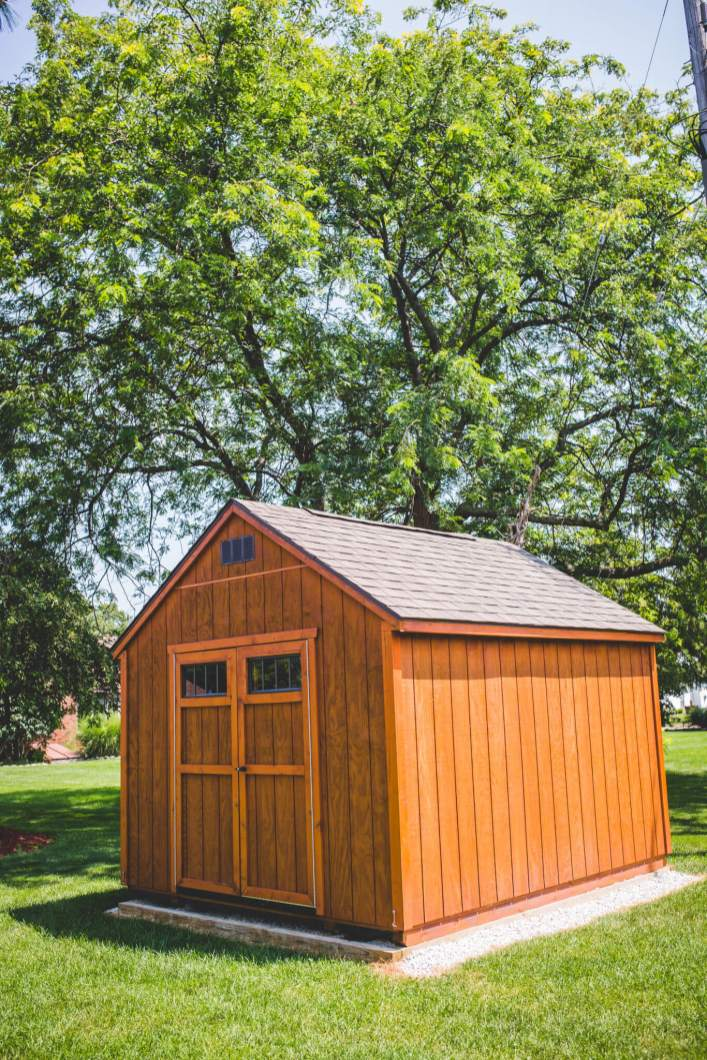 Garden Shed 10 X 12 Wood Stained