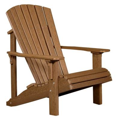 LuxCraft Poly Deluxe Adirondack Chair Antique Mahogany