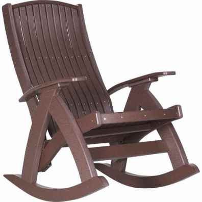 LuxCraft Poly Comfort Rocker Chestnut Brown