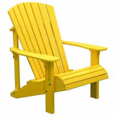 LuxCraft Poly Deluxe Adirondack Chair Yellow