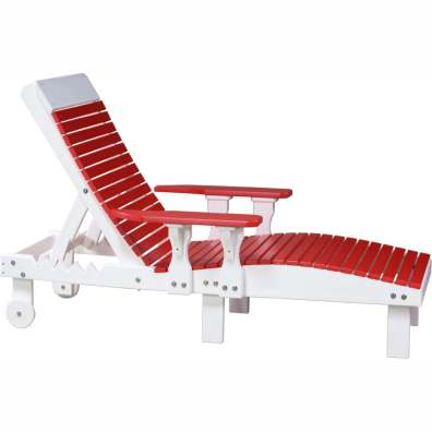 LuxCraft Poly Lounge Chair Red & White