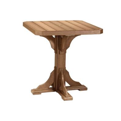 "LuxCraft Poly 41"" Square Table Antique Mahogany"