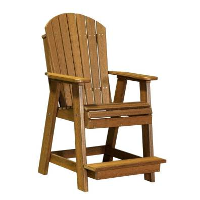 LuxCraft Poly Adirondack Balcony Chair Antique Mahogany