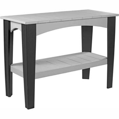 LuxCraft Poly Island Buffet Table Dove Grey & Black