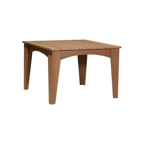 LuxCraft Poly Island Dining Square Antique Mahogany