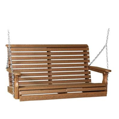 LuxCraft Poly Plain Swing 4' Antique Mahogany