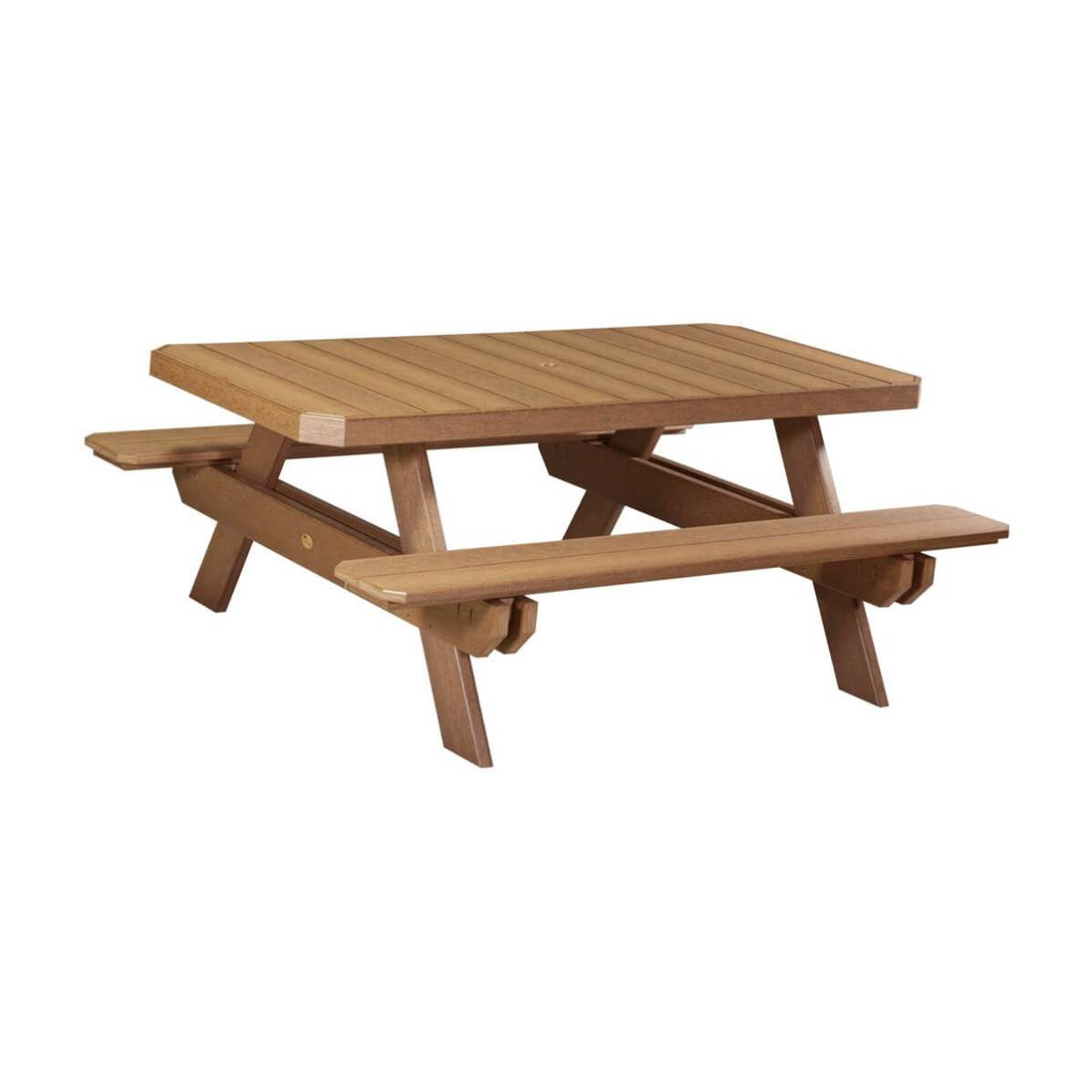 Luxcraft poly 6 rectangular picnic table hostetlers furniture luxcraft poly rectangular picnic table antique mahogany watchthetrailerfo