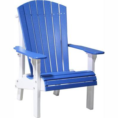 LuxCraft Poly Royal Adirondack Chair Blue & White